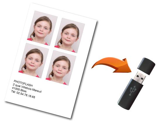 Envoi de vos photos d'identités par mail ou copie sur clé USB
