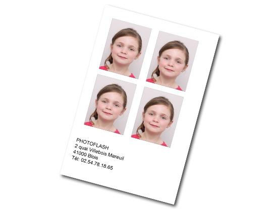 Planche de 4 photos d'identités