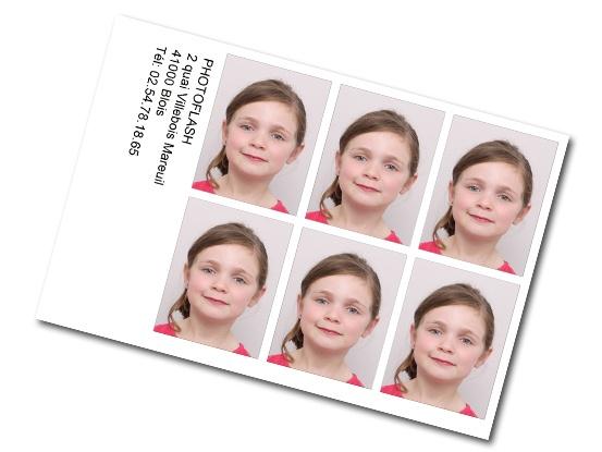 Planche de 6 photos d'identités