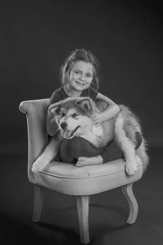 Portrait enfant chien